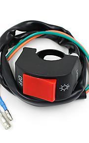 "vawik motorsykkel svart tåke spot lys lampe frontlys på Bryter 7/8 ""22mm bar"