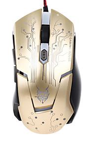 Jite 6d gaming muis 6 toetsen bedrade verlichting usb muis wit zwart goud