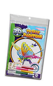DIY kreative DIY gratis maleri tredimensionale puslespil legetøj (med 5 farve farveblyanter)