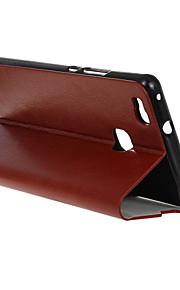 flip cover tegnebog stil med kort slot til Huawei Ascend p9 lite tilfælde mode krystal tekstur sag (assorterede farver)