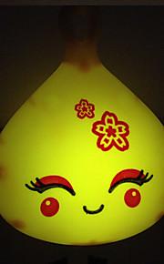 creatieve warm wit lachend gezicht lichtsensor met betrekking tot kindje slaap 's nachts licht (willekeurige kleur)