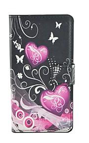 노키아 루미아 540에 대한 자석 스냅 및 카드 슬롯 패턴 PU 가죽 플립 케이스를 사랑