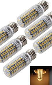 6 stk. YouOKLight® E14 / E26/E27 5W 72 SMD 5730 300 lm Varm hvit / Kjølig hvit T Dekorativ LED-kornpærer AC 220-240 / AC 110-130 V