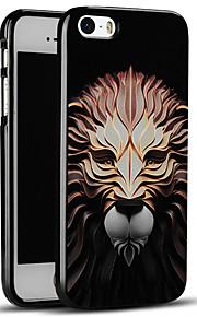 høy kvalitet preget løve myk beskyttende bakdekselet iphone case for iphone se / iphone 5s / 5