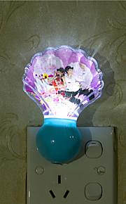 creatieve natuurlijke witte schelp lichtsensor met betrekking tot kindje slaap 's nachts licht (assorti kleur)