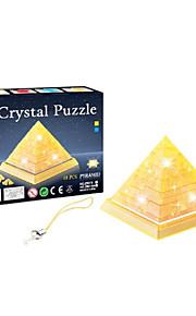 små 3d krystal pyramide blokke puslespil DIY kreative pædagogisk legetøj små børn legetøj