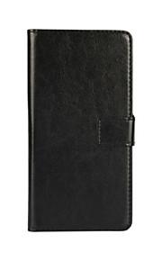 estilo de la carpeta patrón del color sólido de la PU de cuerpo completo cubierta protectora con el soporte para HTC uno M9 (colores