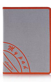 för Apple iPad mini 3/2/1 ipad 5 retro duk smarta PU läder fallet täcker med handrem stativ