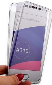 guscio trasparente circa 360 tutte cassa del telefono di TPU compreso per Samsung A7 (2016) / A5 (2016) / A3 (2016) (colori assortiti)