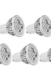 4W GU10 LED-spotpærer MR16 4 Høyeffekts-LED 330 lm Varm hvit AC 85-265 V 5 stk.