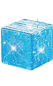 puslespil 3D-puslespil / Krystalpuslespil Byggesten DIY legetøj Magic Cube ABS Brun Model- og byggelegetøj