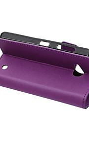 노키아 루미아 550의 경우 패션 카스 그레인 패턴 질감 케이스 카드 슬롯 플립 커버 지갑 스타일 (모듬 색상)