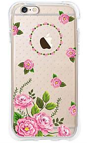 kakashi bloempatroon TPU schilderij airbag Hoogte- zachte hoes voor de iPhone 6s / 6 / 6s plus / 6 plus (fresia)