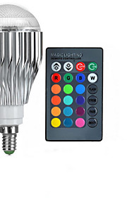 10W E14 LED-globepærer A50 1 Høyeffekts-LED 600-800 lm RGB Fjernstyrt AC 85-265 V 1 stk.