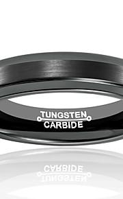 Unsex Båndringe,Smykker Sort Moderigtig / Vintage Bryllup / Party / Daglig / Afslappet Wolfram stål 1pc,7 / 8 / 9 / 10 / 11 / 12 / 13
