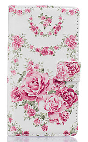 Pink Flowers Pattern PU Leather Material Phone Case for Huawei Ascend P9 Lite/ P9