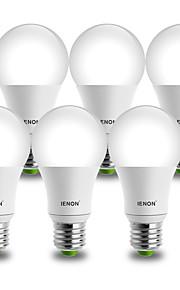 9W E26/E27 LED-globepærer A60(A19) 1 COB 850-900 lm Kjølig hvit Dekorativ AC 100-240 V 6 stk.