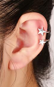 unisex mode guld / sølv stjerne clip-on øre manchetter øreringe smykker (1 stk, 10 g)