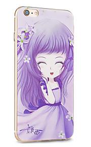 kakashi flor série princesa TPU pintura estojo para iphone 6s / 6 / 6s plus / 6 mais (trevo)