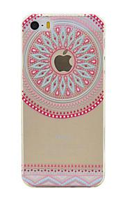 material de TPU rosa teste padrão do círculo caixa do telefone fino para iphone SE / 5s / 5