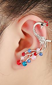 unisex mode guld / sølv påfugl øre manchetter øreringe smykker (1 stk, 10 g)