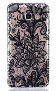 black rose pattern pintado caso de material TPU telefone para Galaxy j1 / j1ace / J120 / J2 / J3 / J5 / J510 / J7 / G360 / G530 / G850