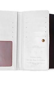 노키아 루미아에 대한 PU 가죽 케이스 사진 프레임 지갑 책 표지 (9) 카드 슬롯 (640) 미친 말 곡물 커버