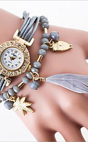 quartzo tendência de lazer assistir ms han edição de estudante pulseira cordão de penas moda relógios