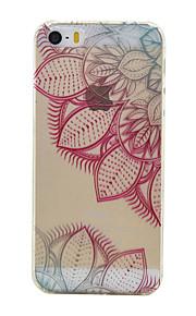 TPU material färg halv blommönster mjuk telefon fallet för iphone5 / 5s / se