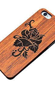 Ultra Thin Wooden Beautiful Flower Rose Protective Back Cover Hard iPhone PC Case for iPhone SE/iPhone 5S/iPhone 5
