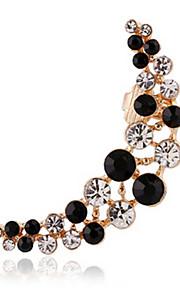 unisex mode guld / sølv zircon øre manchetter øreringe smykker (1 stk, 10 g)