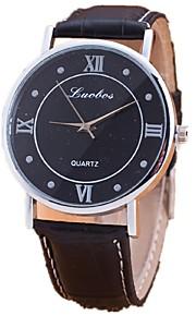 Masculino Assista Quartz Relógio de Moda Relógio Casual PU Banda Relógio de Pulso Preta / Marrom