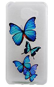 materiale TPU opaco bordo blu farfalla eccellente di sollievo effetto di protezione delle coperture del telefono per la galassia A310 /