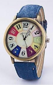 relógio ocasional cinto de marcação retro relógio de quartzo do casal