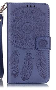 cinta do telefone móvel couro gravado campanula para Samsung Galaxy J5 / G530