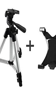 aluminiumslegering stativ med 1/4 '' skrue + ipad clamp + telefon klemme til kamera eller telefon og pc webcam