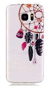 TPU de alta pureza a céu aberto translúcida dreamcatcher padrão caso telefone macio para Galaxy S5 / S6 / S6 edge / S7 / S7 borda