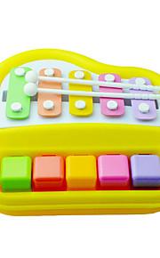 amarelo de piano batida da mão da criança para crianças acima de 3 brinquedo instrumentos musicais
