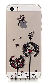 TPU Dandelion Pattern Transparent Soft Back Case for iPhone SE 5s 5
