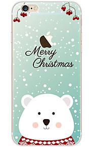 kakashi schattige dieren patroon TPU schilderij zachte hoes voor de iPhone 6s / 6 / 6s plus / 6 plus (ijsbeer)