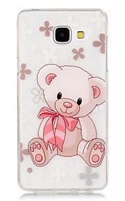 TPU de alta pureza a céu aberto translúcida padrão de urso caso telefone macio para Galaxy A310 / A510