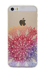 TPU material de cor metade padrão de flor caso de telefone macio para o iPhone5 / 5s / SE