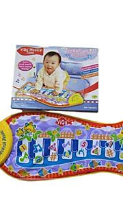 amarelo toque de piano de peixe para crianças em instrumentos musicais de brinquedo