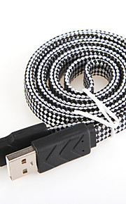 USB 2.0 שטוח אלומיניום כבלים 100cm