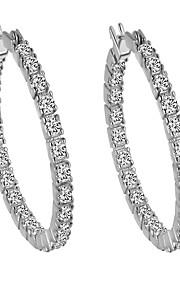 Dame Kreoler-øreringe,Smykker Gylden / Sølv Vintage Daglig / Afslappet Sølvbelagt / Rødguldbelagt 1 par Piercet