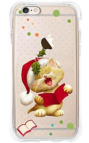 kakashi dierlijk patroon TPU schilderen airbag Hoogte- zachte hoes voor de iPhone 6s / 6 / 6s plus / 6 plus (leuke kat)