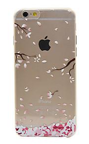 material de TPU da flor de ameixa padrão de caixa do telefone fino para 6s iphone plus / 6 plus / 6s / 6