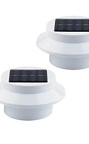 1W Soldrevne LED-lamper 100 lm Varm hvit / Kjølig hvit DIP-LED Dekorativ Batteri V 2 stk