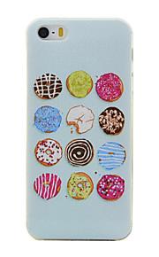 TPU rosquinhas padrão caixa do telefone fino para iphone SE / 5s / 5