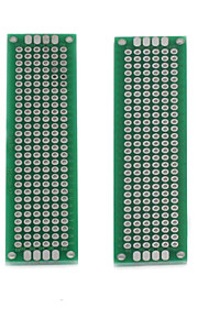 DIY Dual-Side Tin Plated KB Boards - Silver + Green (2 PCS)